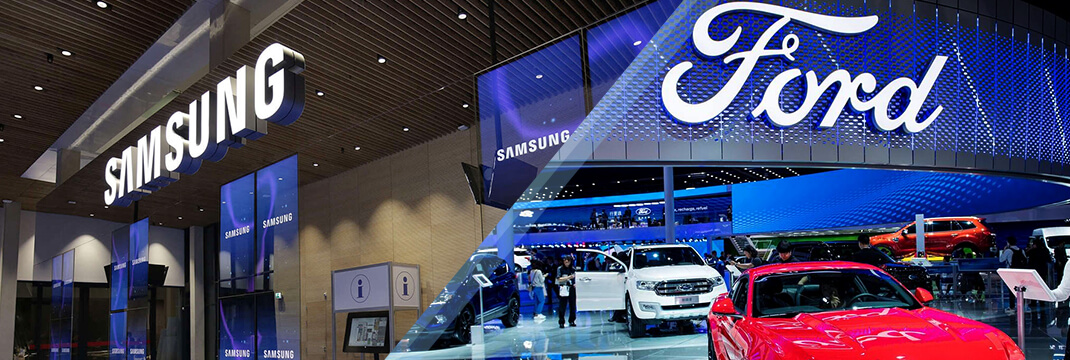 Samsung Electronics and the Ford Motor Company
